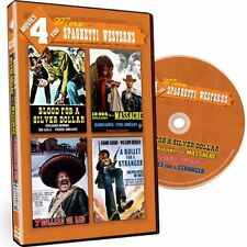 MOVIES 4 YOU MORE SPAGHETTI WESTERNS BLOOD FOR A SILVER DOLLAR +3 NEW SEALED DVD