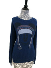 Disney Parks Sweater Womens Size XL Navy Blue Long Sleeve Mickey With Hat Top