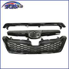 Front Upper Grille Assembly For Subaru Forester 2014-2018 STI Style Black Grill