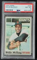 1970 TOPPS #250 WILLIE McCOVEY GIANTS HOF PSA 8 NM MINT Looks 10!
