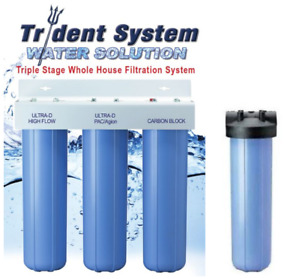 AlkaViva Trident 4-Stage Whole House Filter Maximum Chlorine and Fluoride Filtra