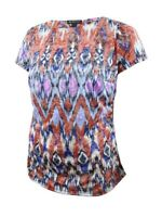 INC International Concepts Women's Plus Printed Burnout Top