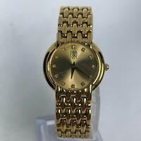 ESQ Swiss Womens E5114 Gold Tone Analog Quartz Swiss Movement Wristwatch