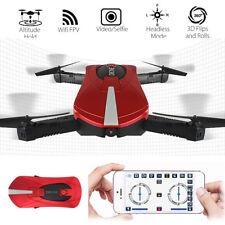 Selfie Foldable RC Drone w/ HD Camera Pocket FPV Quadcopter Wifi Phone Control