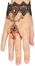 Ladies Red Jewel Vampire Bracelet Halloween Fancy Dress Costume Outfit Accessory