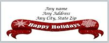 Personalized Address labels HAppy Holidays Buy 3 get 1 free (ac 551)