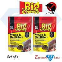 The Big Cheese Mouse & Rat Killer Poison Pasta Sachets STV222 Bait x 6 Sachets