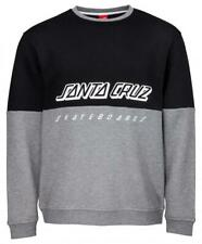 Santa Cruz - Scs Crew - Skateboard crew Pullover Top - Black / Grey - Medium