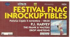 RARE / TICKET BILLET DE CONCERT - P.J. HARVEY : LIVE A PARIS ( FRANCE ) 1992