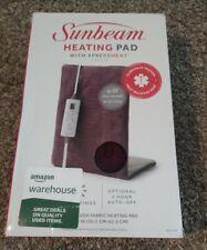 "Sunbeam Electric Xpress Heat Heating Pad King Size 12""x24""  6 Settings Bin 16"