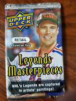 2008 Upper Deck NHL Hockey Legends Masterpieces 4 card packs