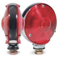 "Truckspec TS-3802X Red Amber 4"" Double Side Light Bulk Chrome"