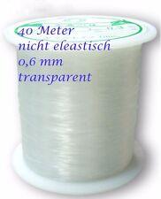 1 Rolle Nylonfaden transparent Nylon thread Wire nicht elastisch 0,2-0,8mm clear