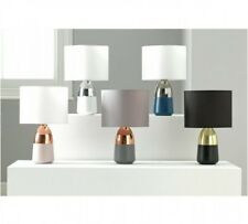 New Touch Lamp Lounge / Bedside Table Light Lamp with classy fabric tub shade