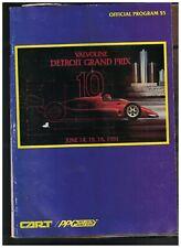 Detroit Grand Prix 10 Program 1991 Formula 1 Auto Racing