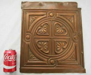 ANTIQUE AESTHETIC MOVEMENT REPOUSSE COPPER PANEL PLAQUE Arts & Crafts vintage