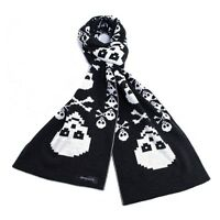 NEW LONG SCARF CLASSIC BLACK & WHITE SIMPLE WINTER STYLE GOOD FOR  SEASONAL GIFT