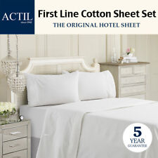 ACTIL First Line Cotton Hotel Sheet Set SINGLE/KING SINGLE/DOUBLE/QUEEN/KING