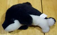 """LITTLE BLACK AND WHITE DOLPHIN 5"""" Plush STUFFED ANIMAL Toy"""
