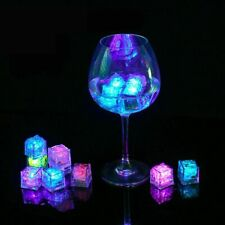 Wedding Cup Light Glow Ice Cubes Luminous Night Lamp Party Supplies LED 3 Pieces