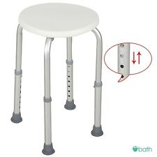 7 Height Adjustable Medical Bath Shower Chair Bath Stool Tub Seat in White