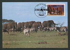 UGANDA MK FAUNA ELEFANTEN ELEPHANTS MAXIMUMKARTE CARTE MAXIMUM CARD MC CM m116
