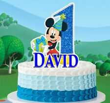 Mickey Mouse Cake Topper (PERSONALIZED)