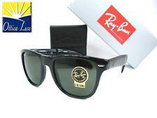 RAY BAN 4105 601 54 FOLDING WAYFARER Pieghevole Nero Sunglass Sole Occhiale