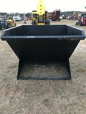 New listing New 1.5 Yard Skid Steer Dumping Trash/Debris Hopper , Hd Made In Usa
