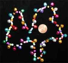Funky Retro RAINBOW JINGLE BELLS CHOKER NECKLACE Hippy Hippie Novelty Jewelry