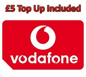 Vodafone Pay As You Go Sim Card 3G 4G Triple Cut With £5 Credit Preloaded OFFER