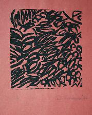 Helmut Dittmann 1931-2000 Informel Struktur kinetisch Linolschnitt Künstlerabzug