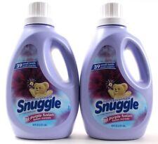 2 Snuggle Non Concentrate Purple Fusion Fabric Softener 64oz Jugs