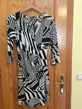 NEW.  M&CO.  STRETCH PULL ON   DRESS.  SIZE 14.  BLACK AND WHITE.   LONG SLEEVE