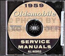 1959 Oldsmobile 88 e 98 Manuale di Negozio su CD 59 Servizio Riparazione Dynamic