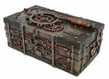 Veronese Bronze Steam Punk Steampunk Art Treasure Trinket Box Figurine