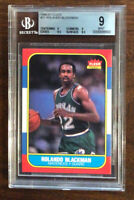 1986 FLEER BASKETBALL #11 ROLANDO BLACKMAN BGS 9 MINT QUADS HUGE SUBS (9-9-9.5-9