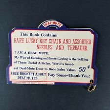 Vintage Deaf Mute Sewing Needle Assortment Pack Key Chain Booklet Gift