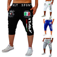 Mens Baggy Jogger Casual Trousers Shorts Sports Pants Harem Gym Fit Crop Bottoms
