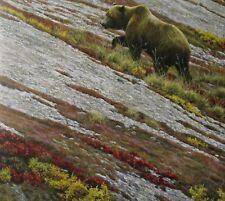 Robert Bateman Art Print Near Lowville Barn Alaskan Autumn Grizzlies Grizzly