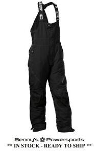 Mens Castle X Phase Bib Snowmobile Pants Black Waterproof Winter Snow Pants