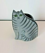 Solveig Cox Pottery Ceramic CAT Planter 3.75