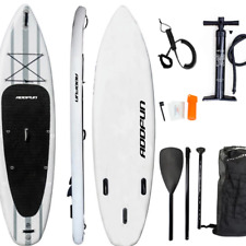 "Premium 10'6"" Inflatable Stand Up Paddle Board Surfboard w/Accessories 6"" Thick"