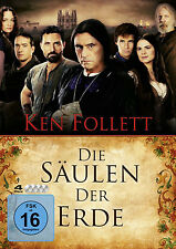 4 DVDs * DIE SÄULEN DER ERDE  - KEN FOLLETT # NEU OVP §