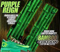 NIKE KD 6 VI BAMBOO GAMMA GREEN Custom Nike Elite Socks (ALL SZ) KEVIN DURANT