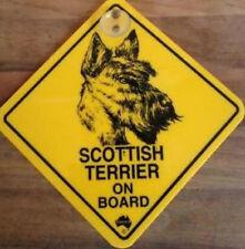 12cm Roadsign Schild mit Saugnapf SCOTTISH TERRIER Warnschild Hund