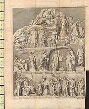 1749 GEORGIAN PRINT ~ GREEK GODS GODDESSES
