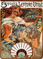 Repro Art NouveauPrint  ' Biscuits Lefevre' by Alphonse Mucha