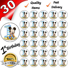 1st FIRST BIRTHDAY BOYS Edible Cupcake Fairy Cake Toppers x 30