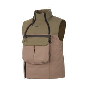 Nike Sportswear Tech Pack Synthetic-Fill Vest Men's Olive Grey Black Activewear